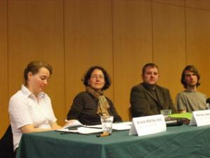 Das Podium am 7. April 2009
