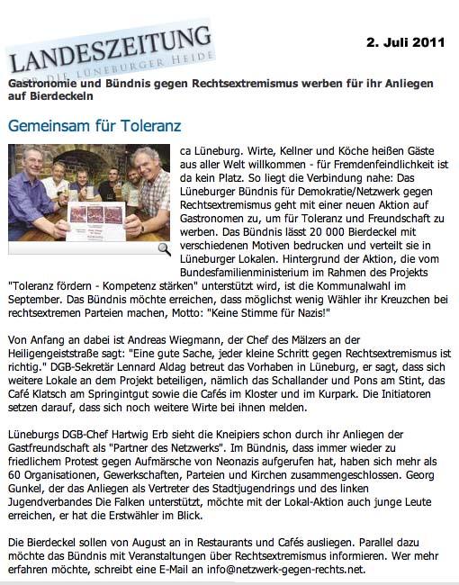 Landeszeitung vom 2./3. Juli 2011